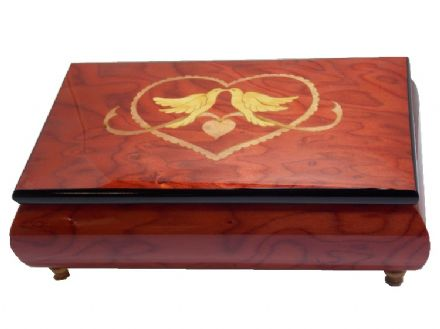 Rose Red Beautiful Inlaid Musical Jewellery Box MAD420ALRDL